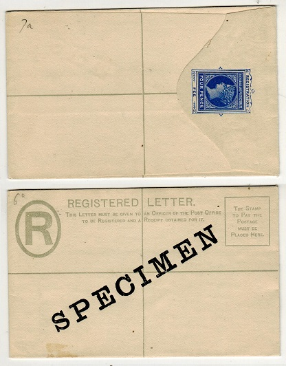 BECHUANALAND - 1899 4d blue RPSE unused with SPECIMEN applied diagonally in black.  H&G 7a.