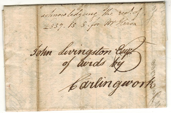 GREAT BRITAIN - 1788 entire from Edinburgh to Carlingwork.