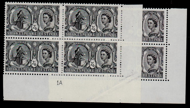 GREAT BRITAIN - 1966 2/6d BLACK variety