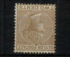 CEYLON - 1872 2c light brown mint with INVERTED WATERMARK.  SG 121w.