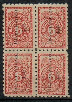 SOUTH AFRICA - 1920 (circa) 6d red