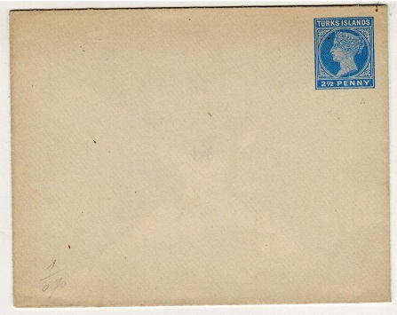 TURKS AND CAICOS IS - 1895 2 1/2d blue PSE unused.  H&G 1.