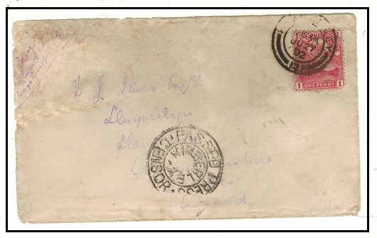 CAPE OF GOOD HOPE 1d rate military cover used at KIMBERLEY with PASSED PRESS CENSOR/KIMBERLEY h/s.
