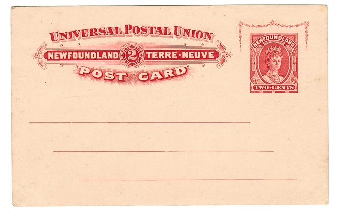 NEWFOUNDLAND - 1911 2c red PSC unused.  H&G 10.