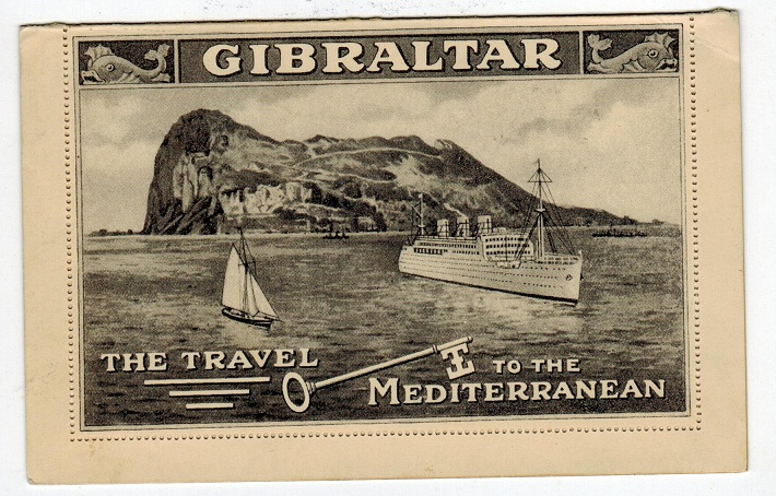 GIBRALTAR - 1938 2d postal stationery letter card to Sweden with