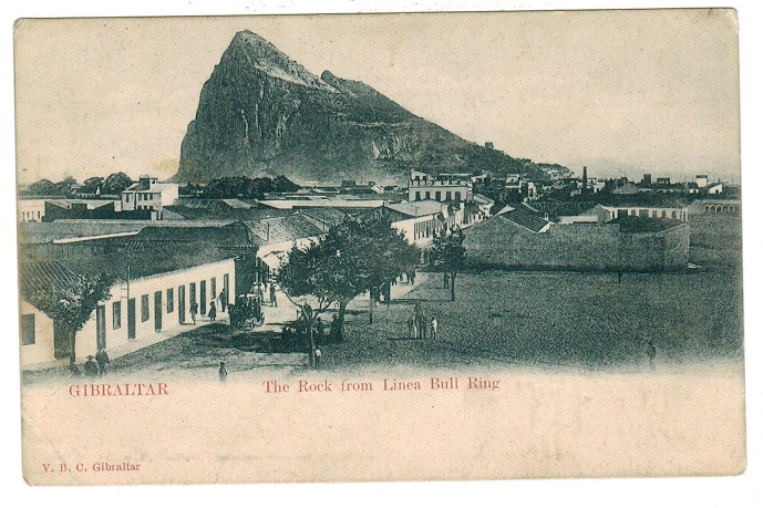 GIBRALTAR - 1902 (circa) picture postcard showing bull ring.