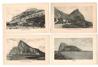 GIBRALTAR - 1905 (circa) range of early unused postcards.