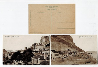 GIBRALTAR - Range of 10 unused early picture postcards.