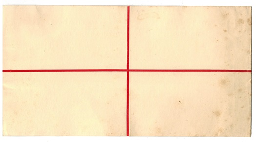 GIBRLATAR - 1927 3d red on cream RPSE unused (size K).  H&G 14c.