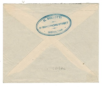 GIBRALTAR - 1944 PASSED /A2 censor cover to UK.