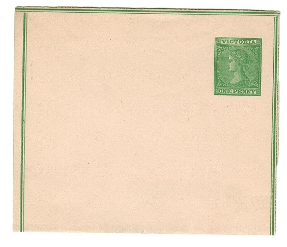 AUSTRALIA (Victoria) 1871 1d green unused postal stationery wrapper.  H&G 2.