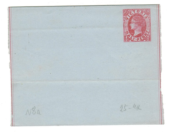 AUSTRALIA (Victoria) - 1885 1/2d pink unused postal stationery wrapper.  H&G 8.