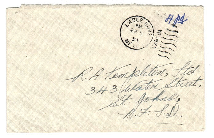 NEWFOUNDLAND - 1951 stampless